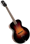 The Loar LH-300-VS Hand Carved Archtop F-Hole Acoustic Jazz Guitar with Hard Case