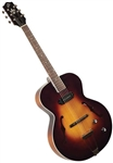The Loar LH-309-VS Hand Carved Archtop F-Hole Acoustic/Electric Jazz Guitar with Hard Case