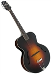 The Loar LH-600-VS Hand Carved Archtop F-Hole Acoustic Jazz Guitar - Sunburst w/ Case