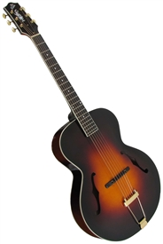 The Loar LH-700-VS Deluxe Hand Carved Archtop F-Hole Acoustic Jazz Guitar