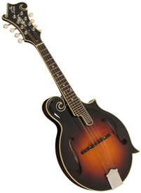 The Loar LM-600-VS Carved F-Style All-Solid Mandolin Nitrocellulose Finish Sunburst w/ Case