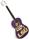 "College Guitars LSU Tigers Louisiana State University 39"" Concert Size Acoustic Guitar"