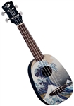 Luna UKE GWS Great Wave Soprano Pineapple Ukulele w/ Bag