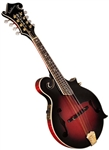 Washburn M3SWETWRK Florentine F-Style Acoustic Electric Manodlin - Wine Red with Hard Case
