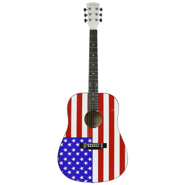 main street maaf usa american flag dreadnought acoustic guitar stars stripes. Black Bedroom Furniture Sets. Home Design Ideas