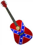 Main Street Rebel Flag Confederate General Lee Dreadnought Acoustic Guitar