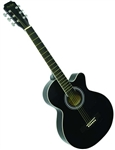 "Main Street 38"" Guitar Black MAS38BK"