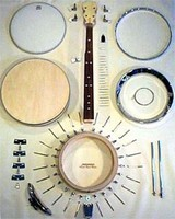 Gold Tone MC-150 MC-KIT Build Your Own Banjo Kit Resonator or Open Back