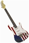 Buy Main Street Strat Style USA American Flag Electric MEDCAF