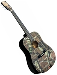 Indiana MO-1 Mossy Oak Camouflage Camo Dreadnought Acoustic Guitar