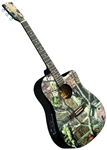 Indiana MO-1CE Mossy Oak Camouflage Camo Acoustic/Electric Guitar