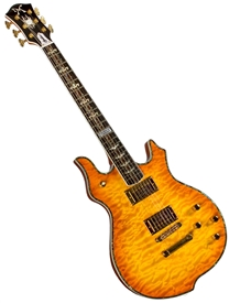 Minarik Goddess Studio X-Treme Series Electric Guitar with Quilted Top - Honey Burst