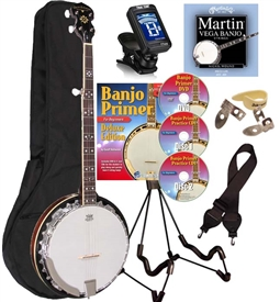 Oscar Schmidt OB5 Banjo Package 5 String Banjo by Washburn