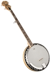 Oscar Schmidt OB5SP Spalted Maple Resonator Banjo 5 String Bluegrass Banjo by Washburn