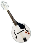 Oscar Schmidt OM10EWH White A-Style Acoustic/Electric Mandolin by Washburn
