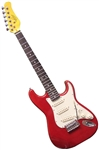 Oscar Schmidt OS-30 3/4 Size Metallic Red Kids Jr. Strat-Style Electric Guitar OS-30-MRD