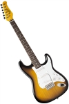 Oscar Schmidt OS-300 Tobacco Sunburst Solid Body Strat-Style Electric Guitar OS-300-TS