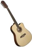 Oscar Schmidt OD312CE 12-String Cutaway Acoustic Electric Guitar - Natural