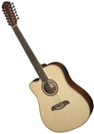 Oscar Schmidt OD312CELH 12-String Cutaway Acoustic Electric Guitar - LEFT HANDED Natural