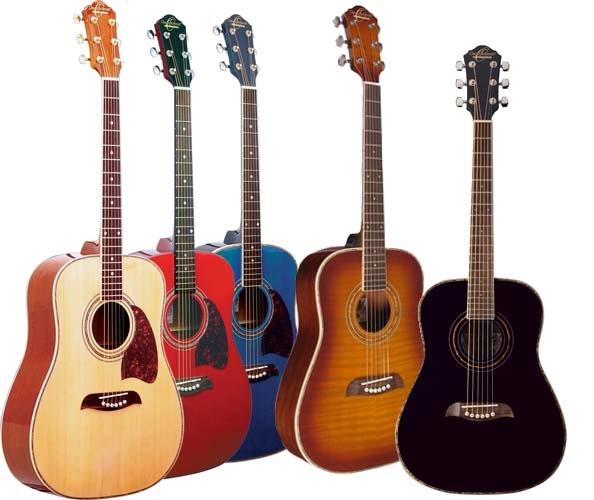 Oscar Schmidt OG1 Spruce Top 3/4 Size Kids Acoustic Guitar Natural, Red,  Blue, Black, Flame Sunburst