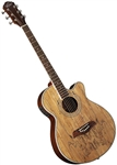 Oscar Schmidt OG10CESM Spalted Maple Top Acoustic/Electric Concert Cutaway Guitar