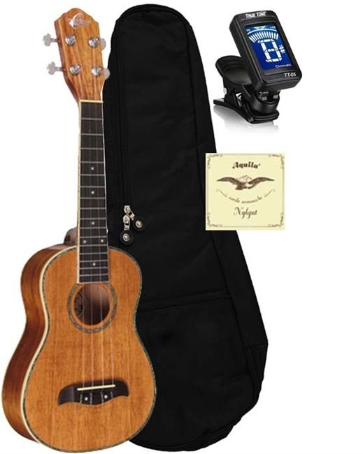 Musical Instruments & Gear Acoustic Electric Guitars Oscar Schmidt Ou5 Koa Concert Ukulele
