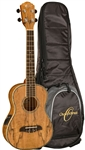 Oscar Schmidt OU7TE Spalted Mango Tenor Acoustic/Electric Ukulele Uke with Gig Bag