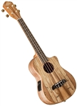 Oscar Schmidt OU8TLCE Spalted Maple Tenor Acoustic/Electric Ukulele Uke
