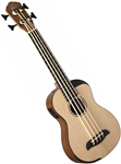 Oscar Schmidt OUB500K Acoustic/Electric Ukulele Uke Bass Guitar w/ Deluxe Bag