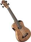 Oscar Schmidt OUB800K Acoustic/Electric Flamed Maple Ukulele Uke Bass w/ Deluxe Bag