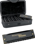 Hohner Piedmont Blues Harmonica Pack with Case - 7 Harmonicas