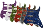 AXL PG-363 Strat Style Pearloid Electric Guitar Pickguard Pick Guard - Purple, White, Green, Red, Black, Blue