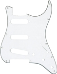 AXL PG-372-W Strat Style Electric Guitar Pickguard Pick Guard - White 3-Ply