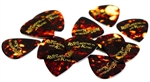 Recording King Celluloid Flatpicks Guitar Picks - Set of 6 Thin, Medium, Heavy