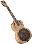 Washburn R360SMK Spalted Maple Vintage Style Parlor Body Resonator Guitar - Single Cone with Hard Case