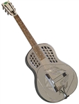Regal RC-57 Engraved Metal Body Bell Brass Tricone Resonator Guitar