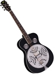 Regal RD-40B Dobro Resonator Guitar - Black Roundneck