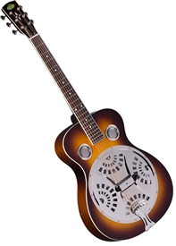Regal RD-40V Roundneck Dobro Resonator Guitar - Sunburst