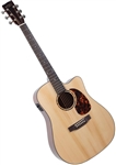 Recording King RD-G6-CFE5 G6 Series Solid Top Dreadnought Cutaway Acoustic Guitar w/ Fishman EQ