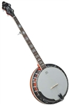 Recording King RK-R20 Songster 5 String Banjo Rolled Brass Tone Ring w/ Case