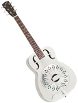 Recording King RM-998-D Roundneck Style-O Bell Brass Resonator Guitar - Diamond Coverplate. Free case and shipping!