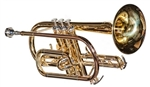 RS Berkeley CR611 Signature Series Brass Lacquer Cornet w/ Case, Care Kit, Stand