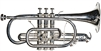RS Berkeley CR614 Artist Series Silver Plated Cornet with Case