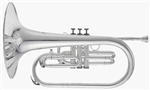 RS Berkeley MAR676 Signature Series Silver Plated Marching Mellophone with Mouthpiece and Custom Case