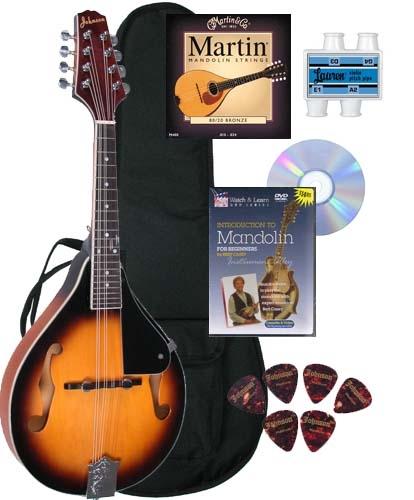 Johnson ma 100 lynchburg f hole mandolin beginner package alternative views solutioingenieria Image collections