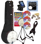 Savannah SB-070 5 String Open Back Banjo Starter Package, Free Shipping!