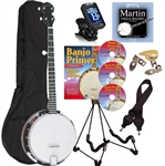 Savannah SB-080 18 Bracket 5 String Banjo Starter Package. Free Shipping!