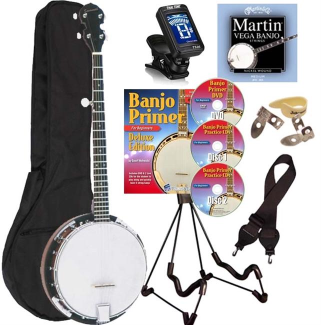 Savannah SB-080 18 Bracket 5 String Banjo Starter Package