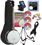 Savannah SB-100 Banjo Package 24 Bracket 5-String Right or Left Handed