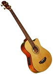 Indiana Scout Spruce Top Acoustic/Electric Bass Guitar SC-AB Black or Natural